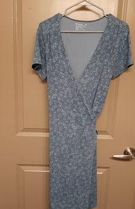 Pact organic cotton wrap dress